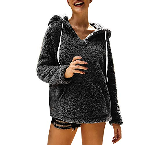 TWIFER 2019 Hiver Sweats à Capuche Femme SANFASHION Pull Haut Flanelle Chaud Hoodie Polaire Laine Zipper Sweatshirt Hiver Top Poches