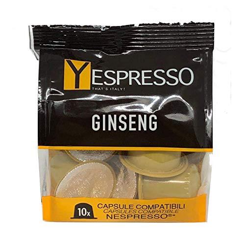 Yespresso capsule nespresso compatibili caffè ginseng - confezione da 30 pezzi