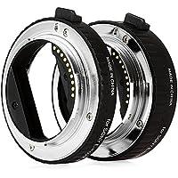 Zhuhaimei,DG - NEX 10MM 16MM AF Tubo de extensión Macro para Enfoque automático para Sony E-Mount A7 NEX7 A5000(Color:Negro)