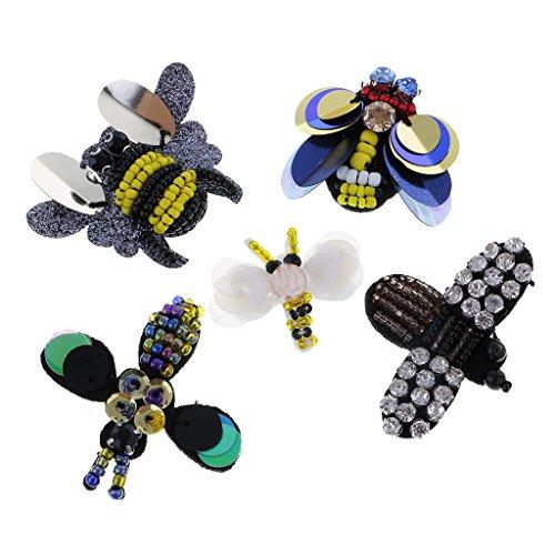 Abeja Aplique para Ropa de Mu/ñecas Zapatos Sombrero Hermoso Dise/ño Proyectos de Costura MagiDeal 4 Piezas Parches de Forma Lib/élula