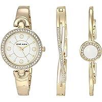 Anne Klein Women's Swarovski Crystal Accented Watch and Bracelet Set AK/3574WTST