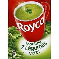 Royco - Soupe instantanée, Mouliné 7 légumes verts - La boite de 4 sachets, 67,6g - Prix Unitaire - Livraison...