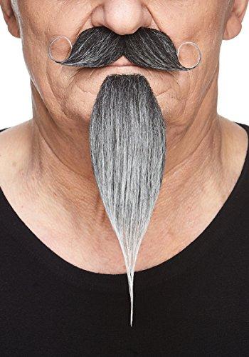 Mustaches Selbstklebende Neuheit Napoleon III Imperial Fälscher Bart und Fälscher Schnurrbart für Erwachsene Salz und Pfeffer Farbe (Erwachsenen Salz Kostüme)