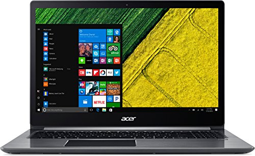 Acer Swift 3 SF315-51-3990 39,6 cm (15,6 Zoll Full-HD) Ultrabook (Intel Core i3-7100U, 4GB RAM, 128GB SSD, Intel HD, Win 10) grau