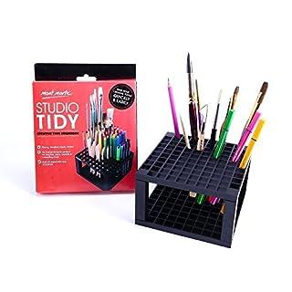 Mont Marte Stifte- und Pinselhalter - Stiftehalter mit 96 Fächern - Ideal für das Aufbewahren und Ordnen von Stiften, Pinsel, Marker und Zubehör - Perfekt geeignet für Anfänger, Künstler und Profis