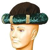 Amakando Orientalischer Turban für Männer & Frauen / Grün in KW 60 / Arabisches Kostüm-Accessoire Sultan / Passend zu Karneval & Themenabend