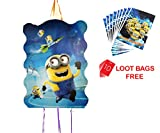 #6: AMFIN® (Pack of 1) Khoi Bags For Birthday party Decoration items / Loot bags for birthday (Minion) ...+ (10 Loot Bags Free)