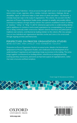 Constructing Identity in and Around Organizations (Perspectives on Process Organization Studies)