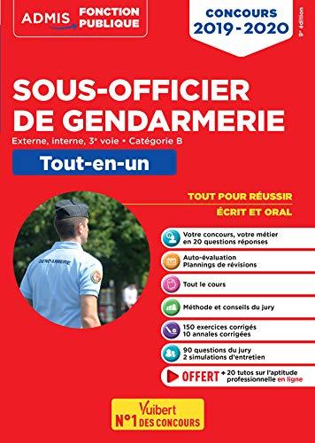 Concours Sous-officier de gendarmerie - Catégorie B - Tout-en-un - Externe, interne et 3e voie - Concours 2019-2020 par  François Lavedan