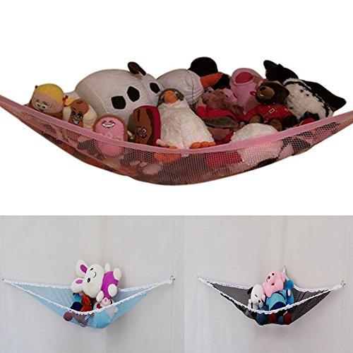 KINDOYO Hamaca de juguete de almacenamiento de red para animales de peluche suave,excelente para el almacenamiento de vivero,organización de juegos de juguetes y organizadores colgantes