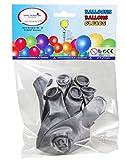 Silberne Luftballons mit Zahl 25 Zahlenballon mit 25 Latexballon zur Dekoration für Silberhochzeit Geburtstag Jubiläum Party oder andere Anlässe