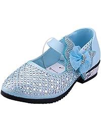 Tyidalin Zapato Princesa Niña Sandalias de Vestido Flat Shoes Bailarinas Princesa Zapatos con Tacón Para Cumpleaños Fiesta Cosplay Carnaval Halloween Niñas