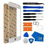 MMOBIEL Front Glas für iPhone 6 / 6S 4,7 Inch Series (Weiss) Display Touchscreen mit 12 tlg Werkzeug-Set passgenauem PreCut Sticker und Anleitung