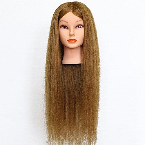 Neverland 26 Pouce Tête à coiffer 90% Cheveux Naturel Mannequin Tête Formation Coiffure avec Support Blond 66CM