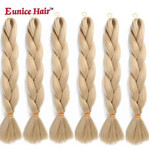 6 Packs Eunice Hair Jumbo Flechten Hair Extensions Colorful Kunsthaar Kanekalon Haar für Heimwerker Crochet Box Zöpfe 100 g/pcs 61 cm (#24) -