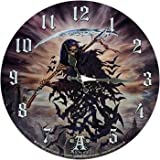 Wanduhr A Thite of Hell by Alchemy Figur Grim Reaper Skelett Uhr