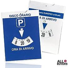 d79db84d7b 2AINTIMO Disco Aparcamiento parquímetro para coche aparcamiento europeo  unificato 12 X15 Cm sosta a horas Azul