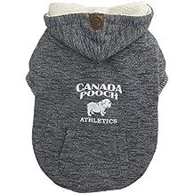 Canada Chien Cozy Caribou Sweat à Capuche Manteau pour Chien Chinées, Taille 8, Gris