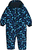 lupilu® Baby Winteroverall imprägniert mit Bionic® Finish ECO (schwarz blau Dino Muster, Gr. 74/80)