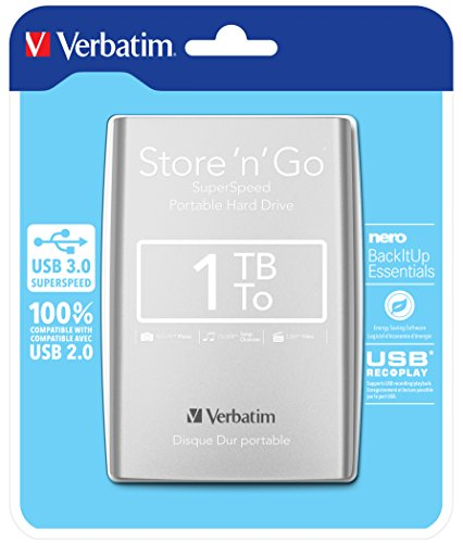 Verbatim 53071 1To Store n Go USB 3.0 2.5' HDD Ext - Argent