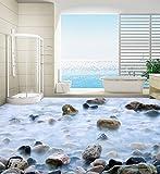 Yosot Tapete 3D Kopfsteinpflaster Badezimmer Schlafzimmer, 3D Fliesen Wasserdicht Selbstklebende 3D Bodenbelag Wandbild-200cmx140cm