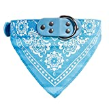 CHANG Haustier-Kann abwaschbar Adjustable Neck Scarf Triangle Towels Saliva Handtuell-Scharfen-Halsbänder-geeignet für kleine und mittlere Hunde und Katzen,lightblue,XXL