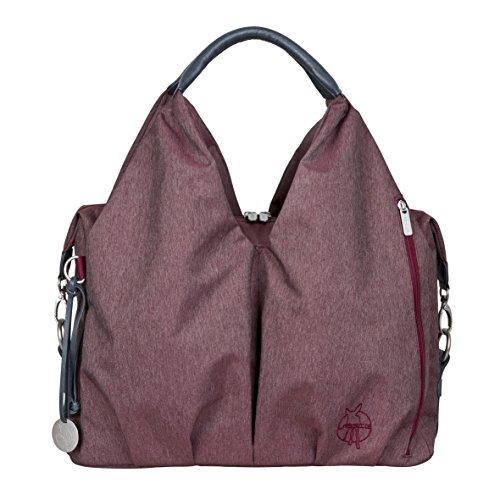 Preisvergleich Produktbild Lässig Green Label Neckline Bag Ecoya Wickeltasche/Babytasche inkl. Wickelzubehör aus recyceltem Material, burgunderrot
