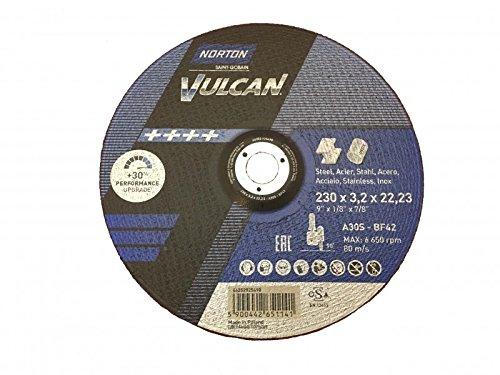 25-norton-vulcan-disques-a-tronconner-230-x-32-x-2223-mm-metal-inox-t42-coudee