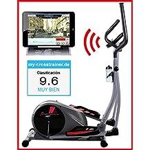 Sportstech CX610 máquina elíptica profesional con control de Smartphone App + Google Street view aplicación, inercia de 18 KG, HRC - Bluetooth - 32 niveles de resistencia