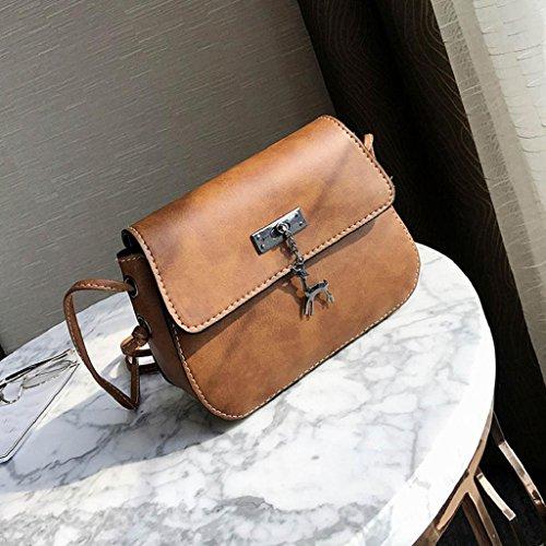 Xmansky Jahrgang Klein Leder Handtasche Beiläufig Tasche Kaffee