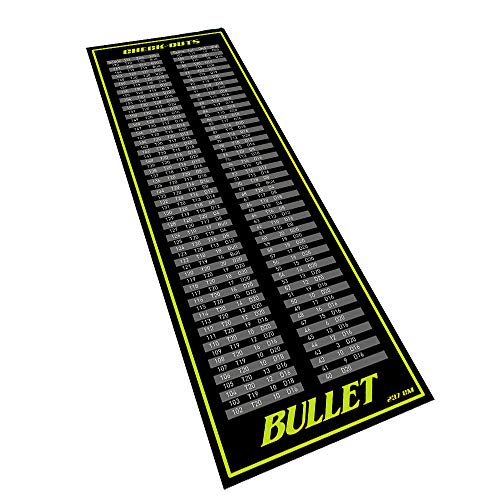 Bullet Hochwertige Turnier Dartmatte 237x80cm in Check-Out Grün