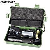 Probe Shiny X800Zoomable XML T6LED Tactical Taschenlampe + 18650Akku + Ladegerät + ESTUCHE, schwarz