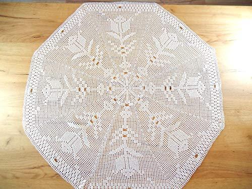 Runde Tischdecke Mitteldecke Häkeldeckchen Deckchen Weihnachtgeschenk Durchmesser 90cm