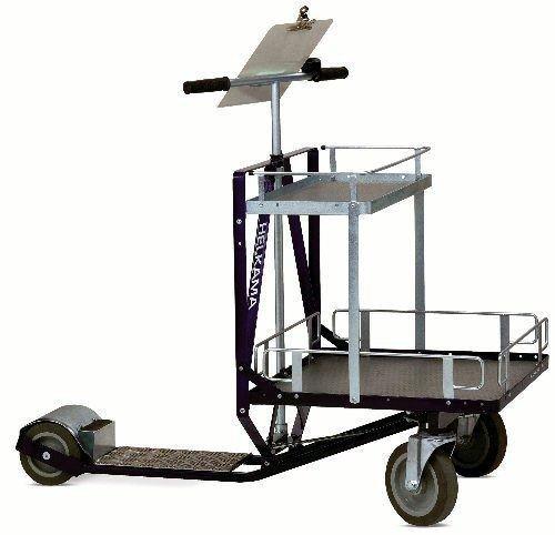 Helkama Industrieroller Carry incl. Reiling oben/unten Tretroller für Erwachsene
