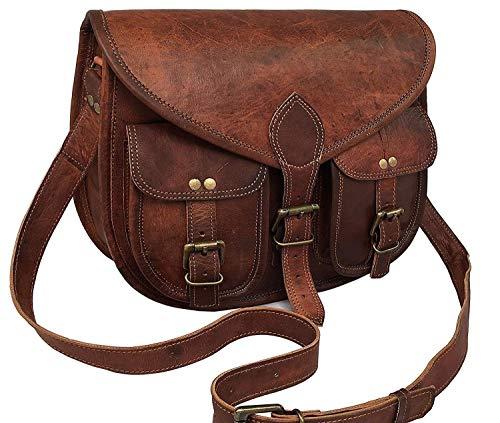 Handgefertigte Leder Frauen Handtasche Umhängetasche Crossbody Satchel Damen Tote Reise Geldbörse aus echtem Leder 10 x 13 Zoll   Mit kostenlosem Versand