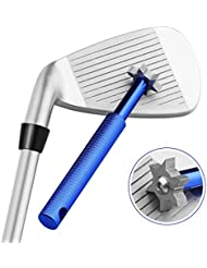 tourgolf Golf Club Groove Afilador Herramienta Limpiador de Groove con 6moldes para un óptimo backspin y control de bola con cuñas y clubes Utilidad Azul azul