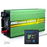 EDECOA Power Inverter 1500W Pure Sine Wave AC 24V to 240V 230V 220V