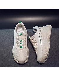 2019 Zapatos deportivos para mujer viejos zapatos de red transpirable para mujer bajos para ayudar zapatos casuales (color bronceado)