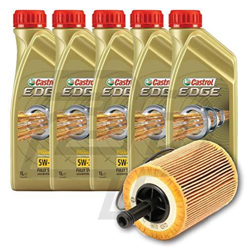 2parts 5 Litri Olio Motore CASTROL Edge 5W30 + Filtro Olio tagliando (5W30192/fo)