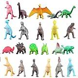 Figura Dinosauro, 72 Pezzi Mini Giocattoli Dinosauro Set, Materiale Grande Sicurezza Assortito Vinile Dinosauro Plastico, Mondo Zoo Dino Dinosauro Playset Giocattoli per Ragazzi Cupcake topper Bomboniere Risorse Istruzione