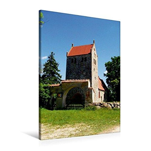 Premium Textil-Leinwand 60 cm x 90 cm hoch, Wehrkirche in Mechow | Wandbild, Bild auf Keilrahmen, Fertigbild auf echter Leinwand, Leinwanddruck (CALVENDO Orte)