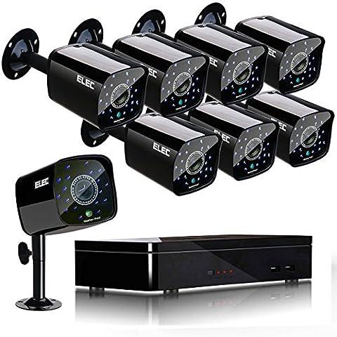 ELEC 8CH HDMI 960H DVR 1500TVL Outdoor Indoor Day Night IR-CUT Surveillance CCTV Système de caméra de sécurité vidéo à domicile - PAS de disque dur