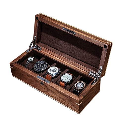 Massivholz Uhrenbox Männer oder Frauen Uhr Veranstalter Fall, Uhr Schmuck Display Aufbewahrungsbox mit Schloss