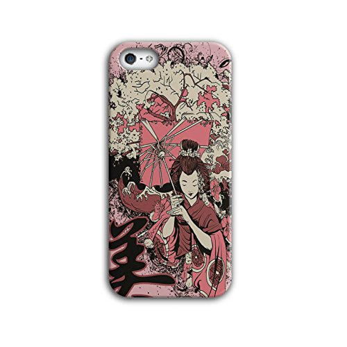 Geisha Sakura Kunst Fantasie Kostüm Perücke iPhone 5 / 5S Hülle | (Kostüm National Japan)