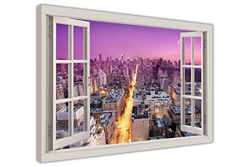 morado-ciudad-de-nueva-york-pared-imagenes-lienzo-enmarcado-imagenes-moderno-art-prints-decoracion-d