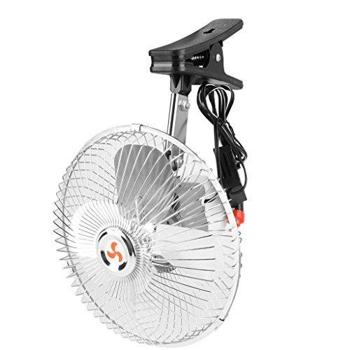 non-brand MagiDeal 1 x Tragbare Auto Ventilator, Justierbar Gebläse Klimaanlage Fan mit Zigarettenanzünder - Splitter 8 Zoll Luft-gebläse-motor