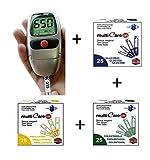 MULTICARE IN – Kit per la misurazione e l'autocontrollo di glicemia, colesterolo e trigliceridi + 25 STRISCE GLUCOSIO + 25 STRISCE COLESTEROLO + 25 STRISCE TRIGLICERIDI