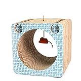 Jakiload Jouet pour Animaux de Compagnie Creative Cat Claw Plate Chat Jouet Carré Ondulé Papier Carton Scratch Board (Color, Size : 33 * 33 * 31cm)