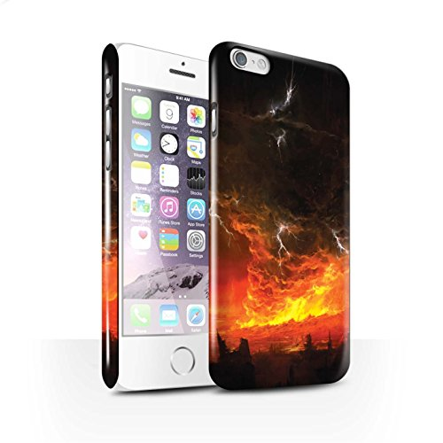 Offiziell Chris Cold Hülle / Glanz Snap-On Case für Apple iPhone 6S / Schiffswrack Muster / Gefallene Erde Kollektion Apokalypse