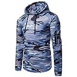 ZODOF Abrigo de Moda Camuflaje Sudaderas para Hombre Zip Casual Slim Fit Pullover Camouflage Blusa Top Hoodies